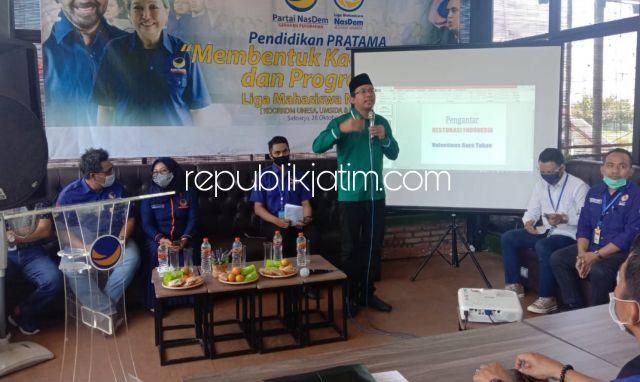 Gus Muhdlor Ajak Liga Mahasiswa Nasdem Progresif Pilih Pemimpin Berjiwa Perubahan di Pilkada Sidoarjo