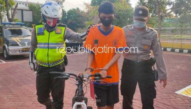 Curi Sepeda Onthel, Arek Simo Surabaya Diringkus Petugas Polsek Lakarsantri Temannya Kabur